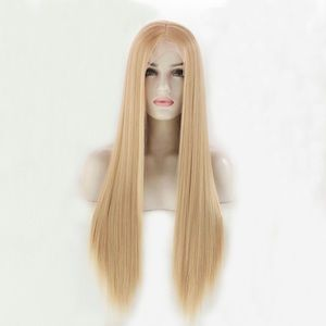 Mixed #27/613 highlight color lace front wigs
